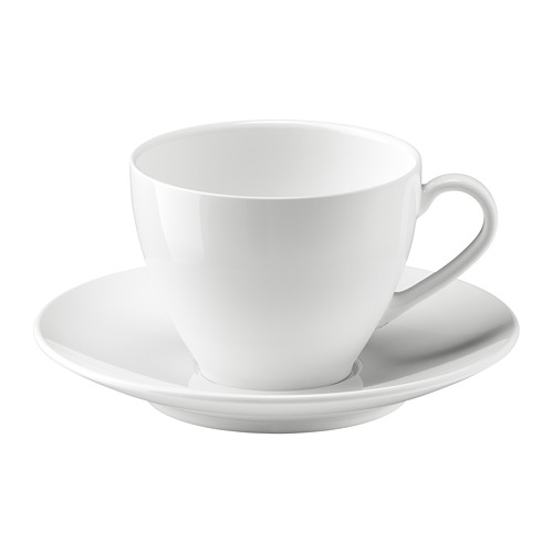VÄRDERA taza y plato para café, taza 20cl y diámetro plato 15cm