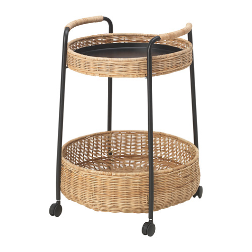 LUBBAN mesa con ruedas y almacenaje