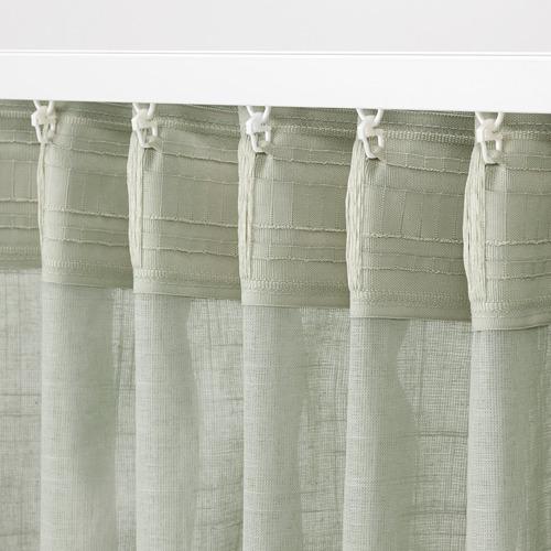 SILVERLÖNN cortina visillo, par