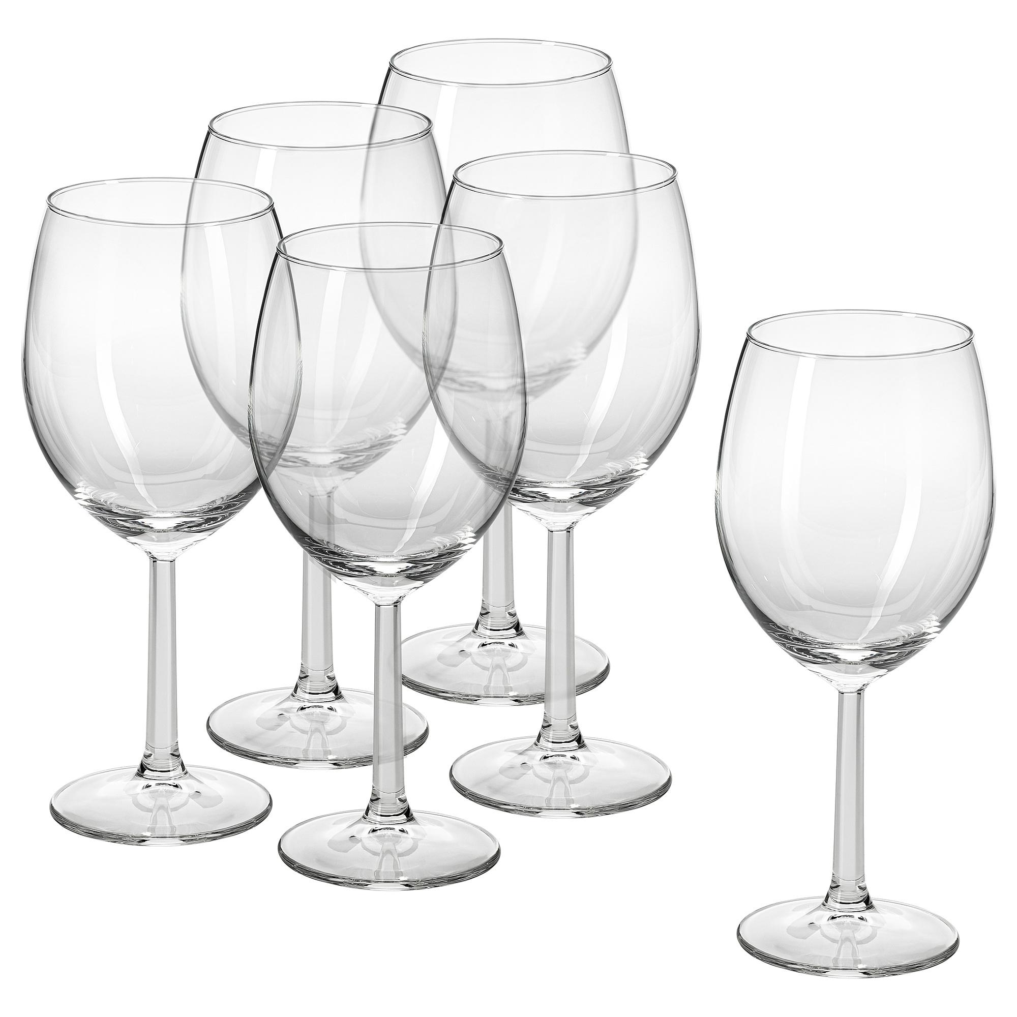 SVALKA Copa de vino blanco, vidrio incoloro IKEA