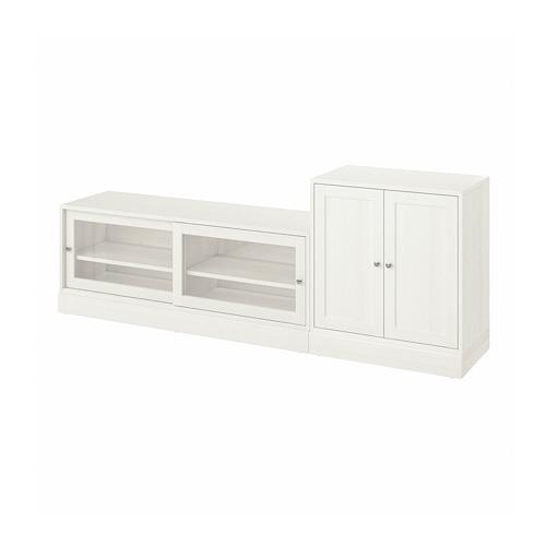 HAVSTA combinación almacenaje con mueble TV, 241x47x89cm