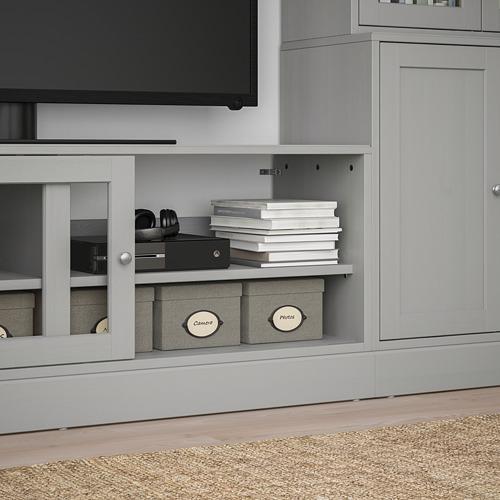 HAVSTA mueble TV puertas vidrio, 322x47x212cm