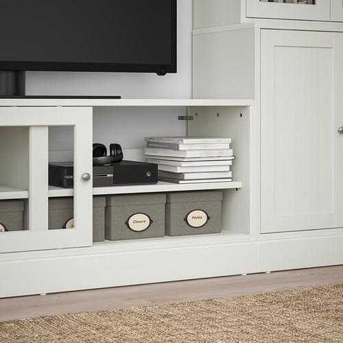 HAVSTA combinación estanterías con mueble TV, 322x47x212cm