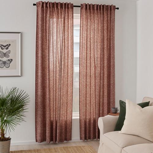 HAKVINGE cortinas, 1par