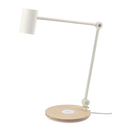 RIGGAD lámpara  flexo de trabajo, led incluida, cargador inalámbrico y puerto USB