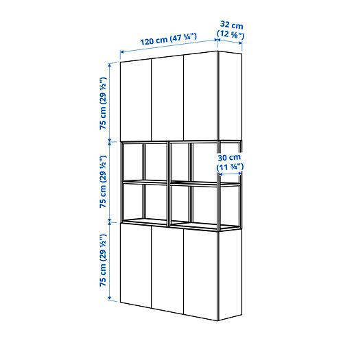 ENHET mueble alto de baño abierto y cerrado para pared, 120x30x225cm