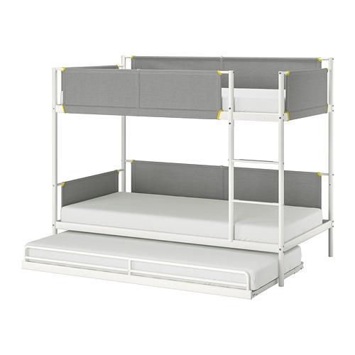VITVAL  litera y cama adicional con somier, 90cm