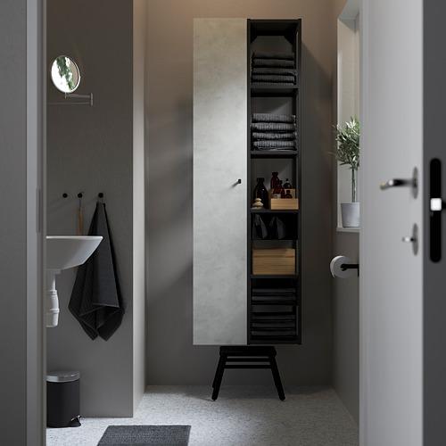 ENHET Combinación de armario abierto y cerrado para pared, 60x30x180cm