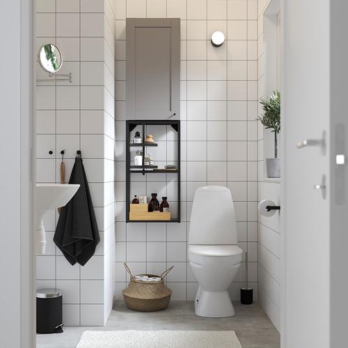ENHET mueble de baño abierto y cerrado para pared, 40x15x150cm