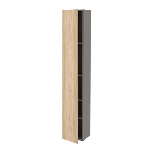 ENHET armario alto de baño con 4 estantes, 30x30x180cm