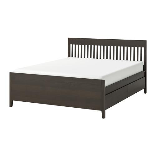 IDANÄS estructura de cama con almacenaje