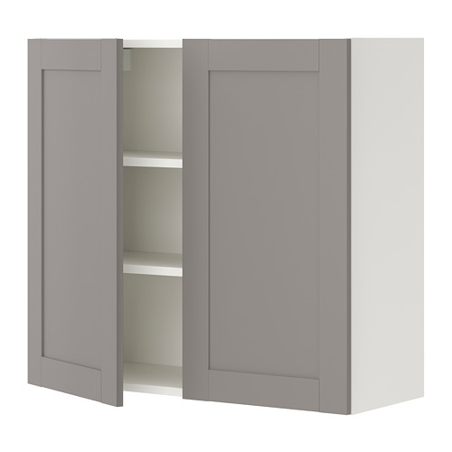 ENHET armario pared con estantes y puertas