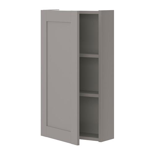 ENHET mueble de baño para pared con 2 estantes,40x15x75cm