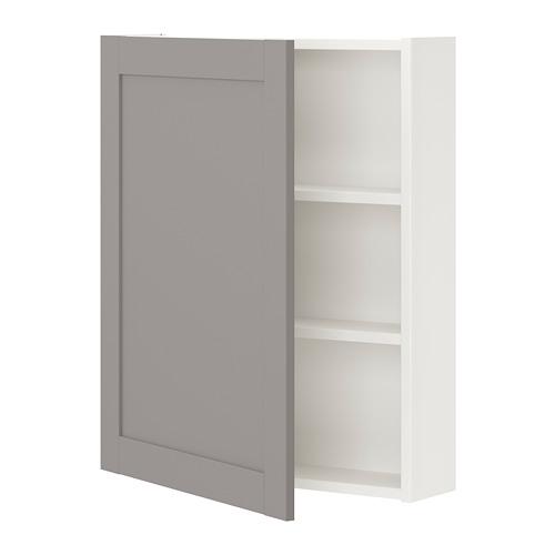ENHET mueble de baño para pared con 2 estantes, 60x15x75cm