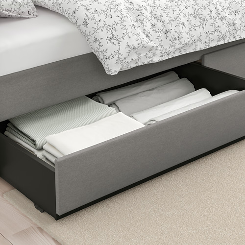 HAUGA cajón cama tapizado