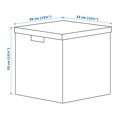 TJENA caja con tapa, 35x32x32cm