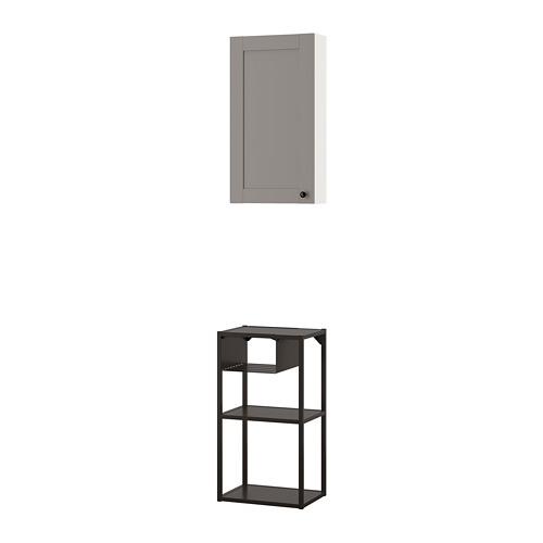 ENHET combinación almacenaje pared, 40x30x140cm