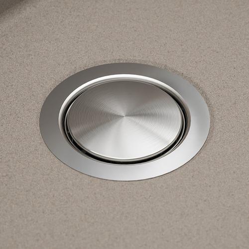KILSVIKEN fregadero encastrado 1 seno, incluye filtro/sifón 1 seno y 1 tapón