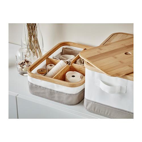 RABBLA caja con tapa y compartimentos