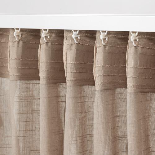 SILVERLÖNN cortina visillo, 1 par, 145x300cm