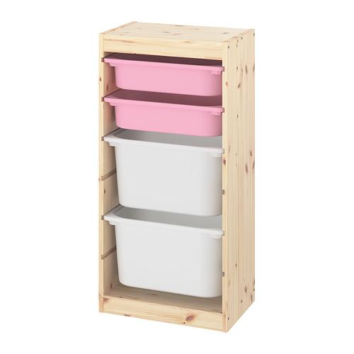 TROFAST combinación de almacenaje con cajas