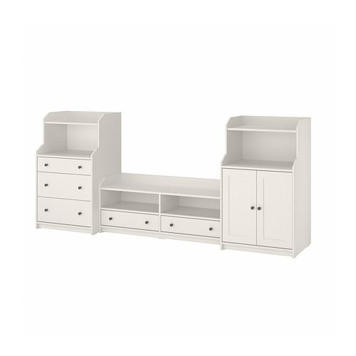 HAUGA combinación almacenaje con mueble TV,, 277x46x116cm