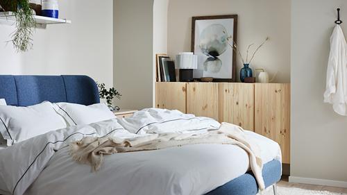 SILVERTISTEL funda nórdica para cama individual y funda almohada, 152 hilos