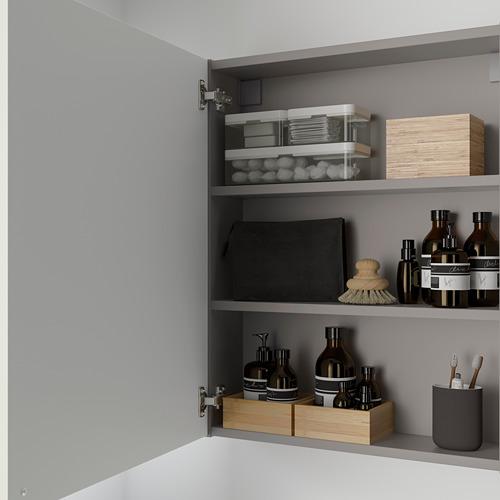 ENHET armario de baño para pared con 2 estantes, 60x15x75cm