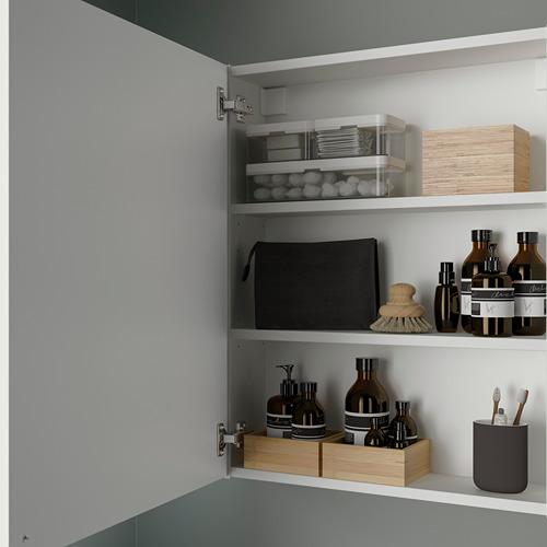 ENHET mueble de baño para pared con 2 estantes,60x15x75cm