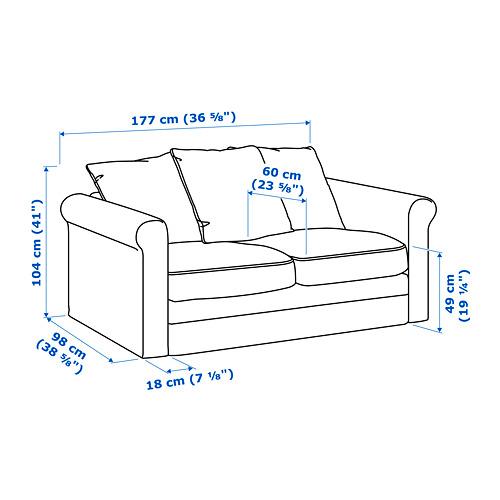 GRÖNLID sofá 2 plazas