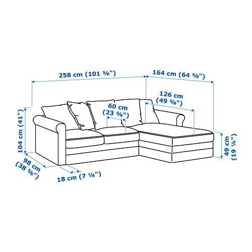 GRÖNLID sofá 3 plazas