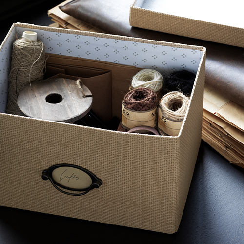 KVARNVIK caja con tapa, 25x18x15cm