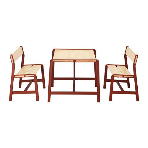 YPPERLIG mesa con 2 bancos para  niños