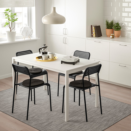 MELLTORP/ADDE mesa con 4 sillas, longitud de la mesa 125cm