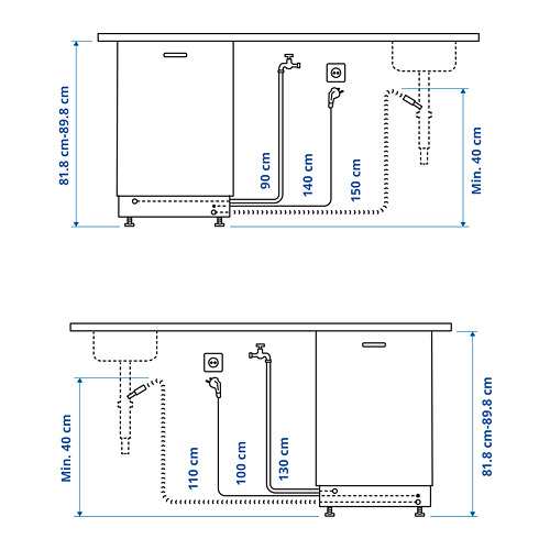 LAGAN lavavajillas integrado, 59,6x57x55cm