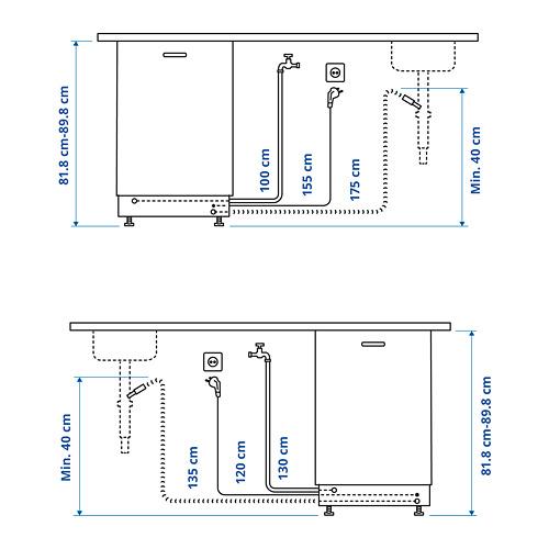 MEDELSTOR lavavajillas integrado, 44,6x55x81,8cm