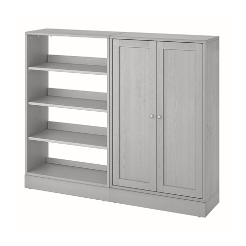 HAVSTA Combinación de armario y estantería