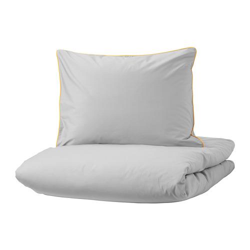 KUNGSBLOMMA funda nórdica y funda almohada, 200 hilos, 80 y 90cm