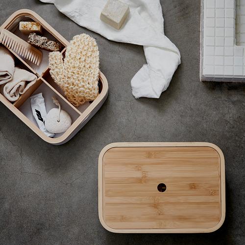 RABBLA caja con tapa y compartimentos, 25x35x10cm