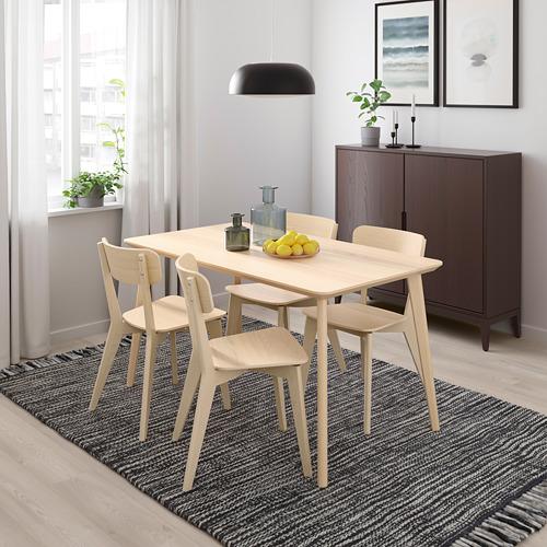 LISABO/LISABO mesa con 4 sillas, longitud de la mesa 140cm