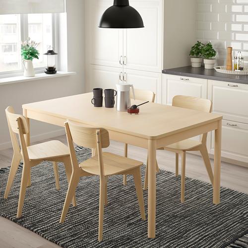 RÖNNINGE/LISABO mesa extensible con 4 sillas, máximo extensión 210cm