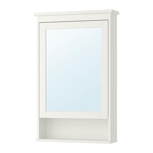 HEMNES armario con espejo, 1 puerta