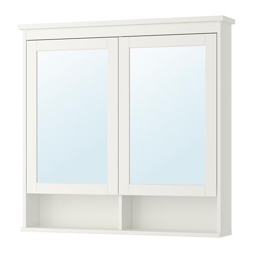 HEMNES armario &espejo, 2 puertas
