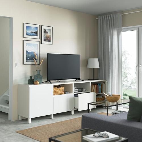 BESTÅ mueble TV con puertas y cajones