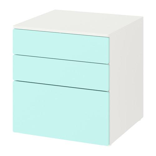 PLATSA/SMÅSTAD cómoda de 3 cajones, 60x55x63cm