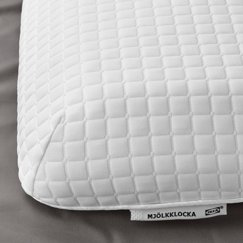 MJÖLKKLOCKA almohada ergonómica, de espalda y de lado, 51cm