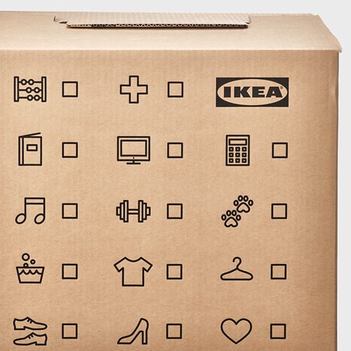 DUNDERGUBBE caja mudanza, 50x31x40cm