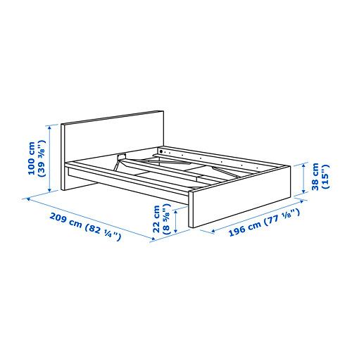 MALM estructura de cama, 180cm