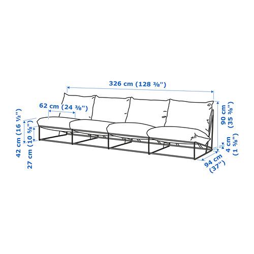 HAVSTEN sofá 4 int/ext