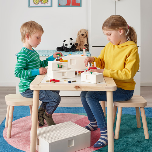 BYGGLEK LEGO® caja con tapa, jgo3
